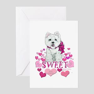 Westie Valentine Heart Greeting Card