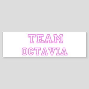Pink team Octavia Bumper Sticker