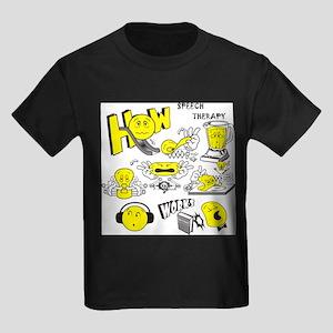 How Speech Therapy Works Kids Dark T-Shirt