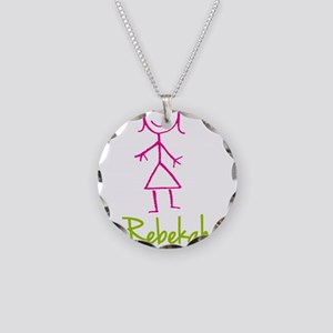 Rebekah-cute-stick-girl.png Necklace Circle Charm