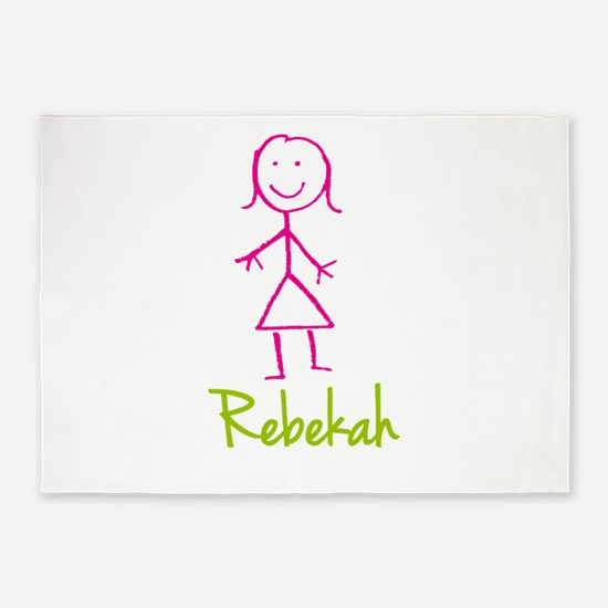 Rebekah-cute-stick-girl.png 5'x7'Area Rug
