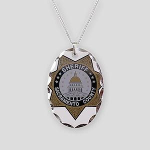 Sacramento County Sheriff badge Necklace Oval Char