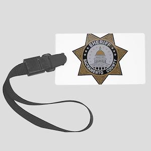 Sacramento County Sheriff badge Large Luggage Tag