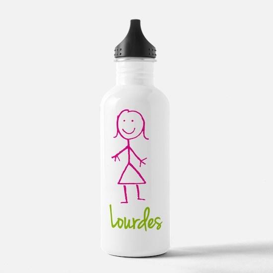 Lourdes-cute-stick-girl.png Water Bottle