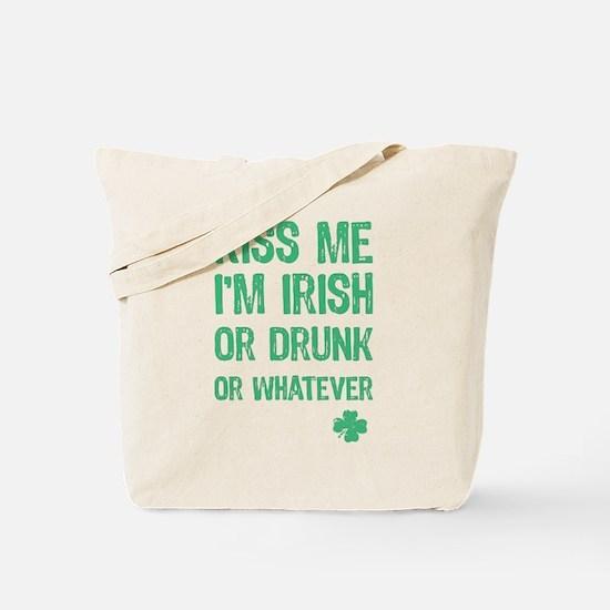 Funny Kiss Me I'm... Tote Bag