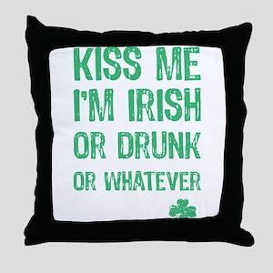 Funny Kiss Me I'm... Throw Pillow