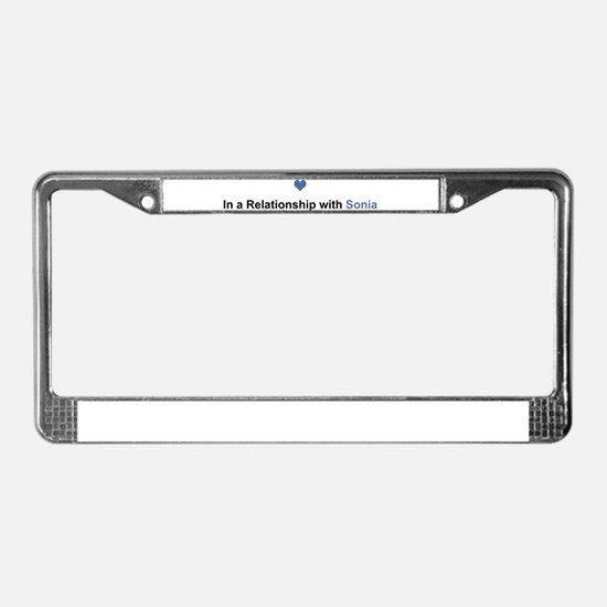 Sonia Relationship License Plate Frame