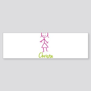 Christa-cute-stick-girl Sticker (Bumper)