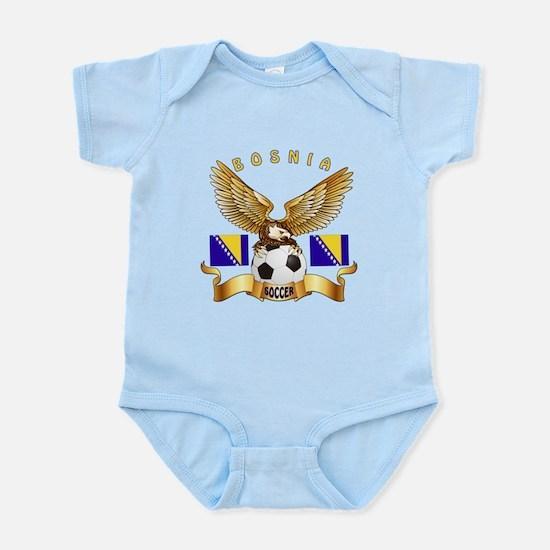 Bosnia Football Design Infant Bodysuit