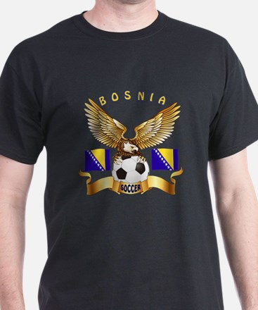 Bosnia Football Design T-Shirt