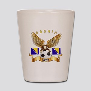 Bosnia Football Design Shot Glass