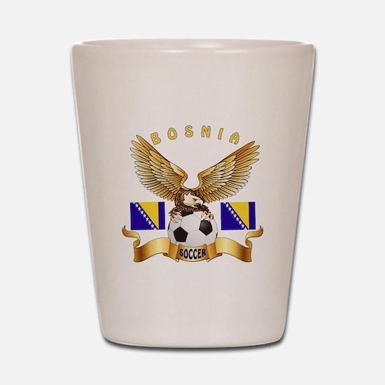 Bosnia Football Design Shot Glass