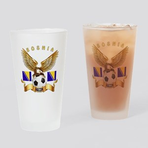 Bosnia Football Design Drinking Glass