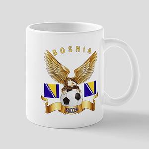 Bosnia Football Design Mug