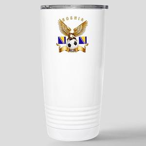 Bosnia Football Design Stainless Steel Travel Mug