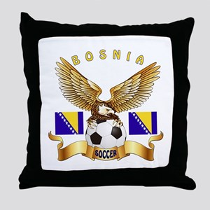 Bosnia Football Design Throw Pillow
