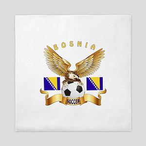 Bosnia Football Design Queen Duvet