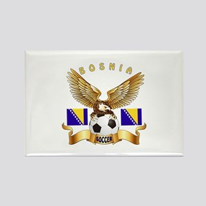 Bosnia Football Design Rectangle Magnet