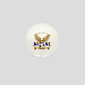 Bosnia Football Design Mini Button
