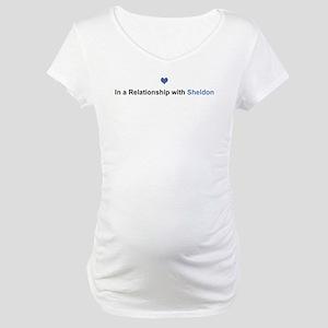 Sheldon Relationship Maternity T-Shirt