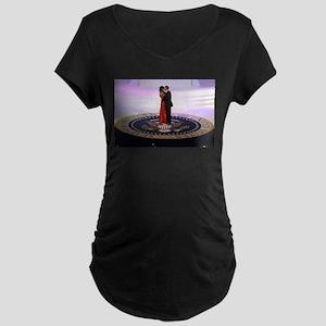 Michelle Barack Obama Maternity Dark T-Shirt
