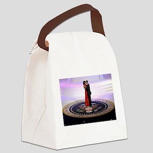 Michelle Barack Obama Canvas Lunch Bag