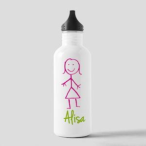Alisa-cute-stick-girl Stainless Water Bottle 1