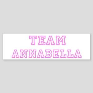 Pink team Annabella Bumper Sticker