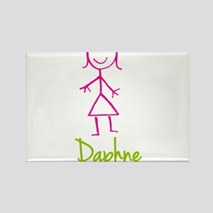 Daphne-cute-stick-girl Rectangle Magnet