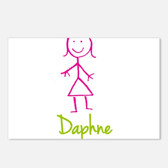 Daphne-cute-stick-girl.png Postcards (Package of 8
