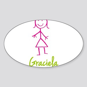 Graciela-cute-stick-girl Sticker (Oval)