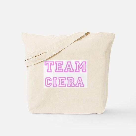 Pink team Ciera Tote Bag