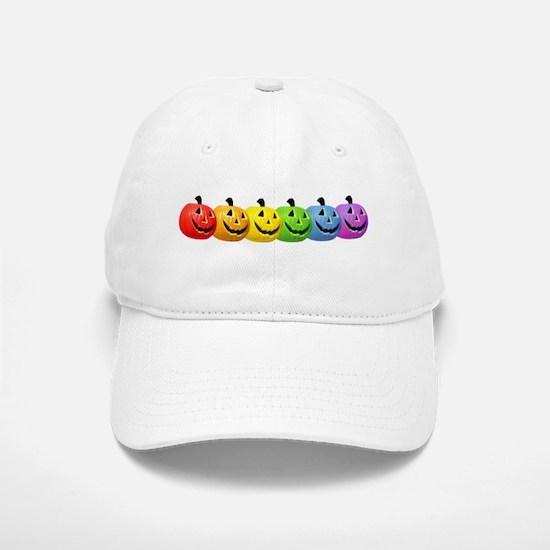 Rainbow Pumpkins Baseball Baseball Cap