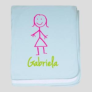 Gabriela-cute-stick-girl baby blanket