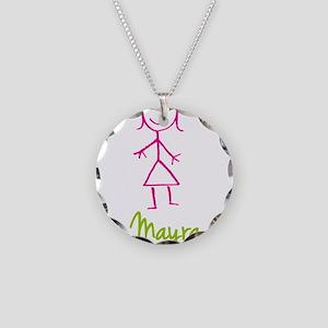 Mayra-cute-stick-girl Necklace Circle Charm