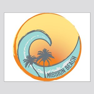 Mission Beach Sunset Crest Small Poster