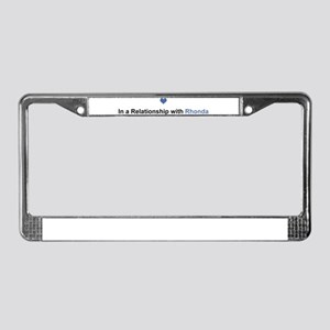 Rhonda Relationship License Plate Frame