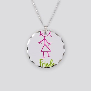 Frieda-cute-stick-girl Necklace Circle Charm