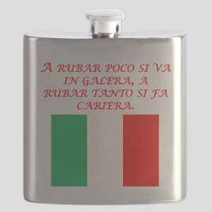 Italian Proverb Stealing Flask