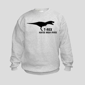 T-REX HATES HIGH FIVES Kids Sweatshirt