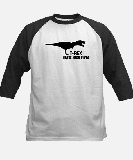 T-REX HATES HIGH FIVES Kids Baseball Jersey