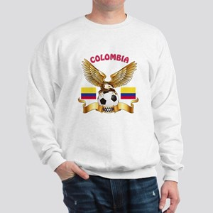 Colombia Football Design Sweatshirt