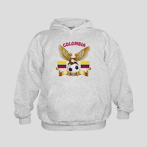 Colombia Football Design Kids Hoodie