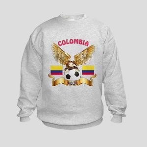Colombia Football Design Kids Sweatshirt
