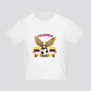Colombia Football Design Toddler T-Shirt