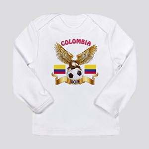 Colombia Football Design Long Sleeve Infant T-Shir