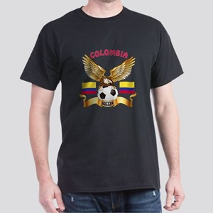 Colombia Football Design Dark T-Shirt