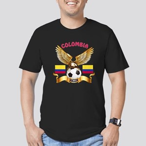 Colombia Football Design Men's Fitted T-Shirt (dar