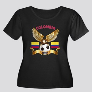 Colombia Football Design Women's Plus Size Scoop N