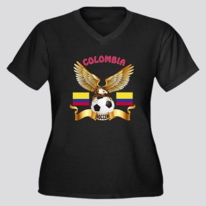 Colombia Football Design Women's Plus Size V-Neck